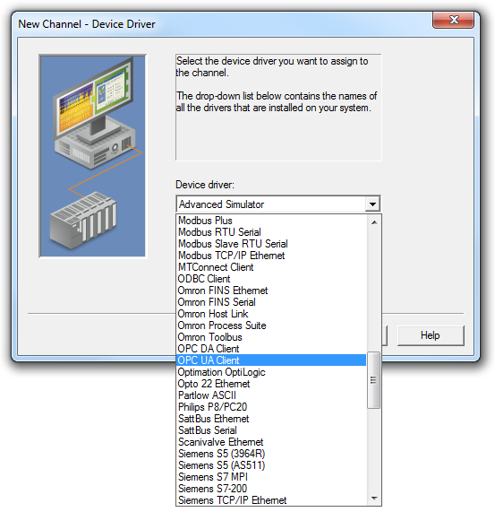Connecting to the LabVIEW OPC UA Server VIs Using OPC Quick Client