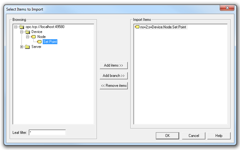Connecting to the LabVIEW OPC UA Server VIs Using OPC Quick