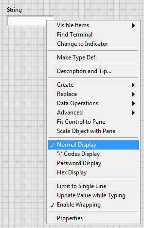 Convert ASCII Characters to ASCII Codes in LabVIEW