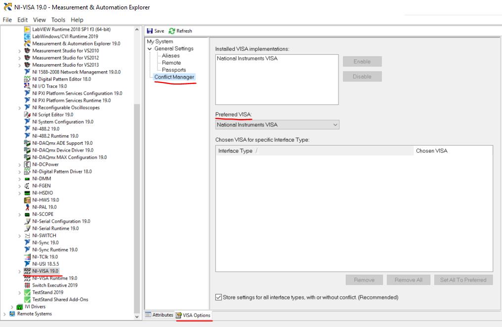 After Installing 3rd Party VISA Software NI VISA No Longer