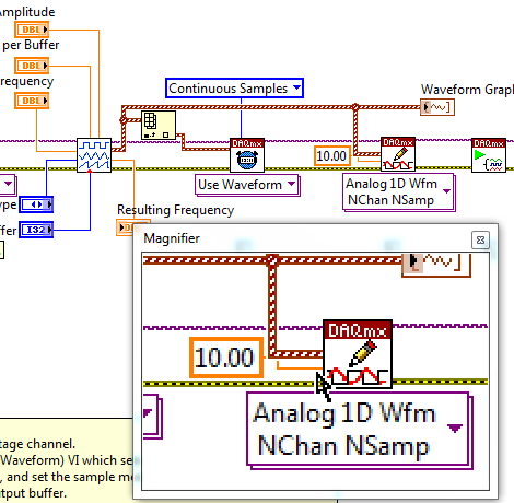 Can I Zoom In or Out in the LabVIEW Block Diagram