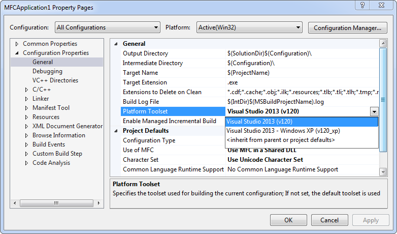 Using Visual C++ (MFC) Libraries in Newer Versions of