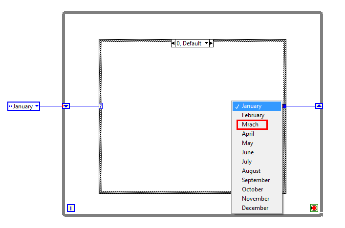 Case structure labview enumerated