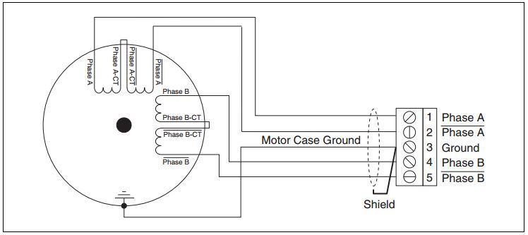figure 3: 8-wire stepper motor (series configuration)