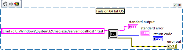 Command Not Recognized When Using System Exec VI - National