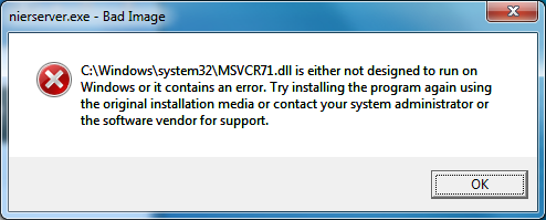 msvcr71.dll download microsoft windows 7