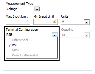 Error -200077 or Grayed Out Terminal Configuration Modes in NI MAX