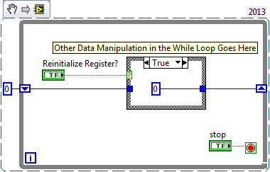 Reinitializing a Shift Register Without Stopping the VI - National