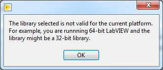 Calling a 32-Bit DLL from 64-Bit LabVIEW and Vice-Versa