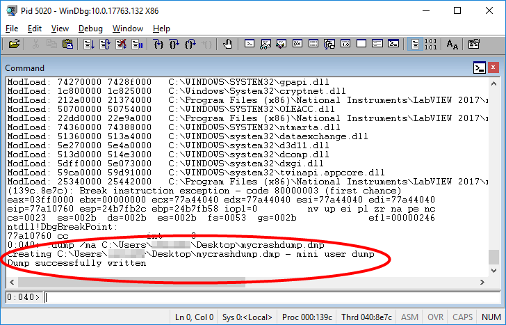 Obtaining a WinDbg Dump File to Troubleshoot Crashes in