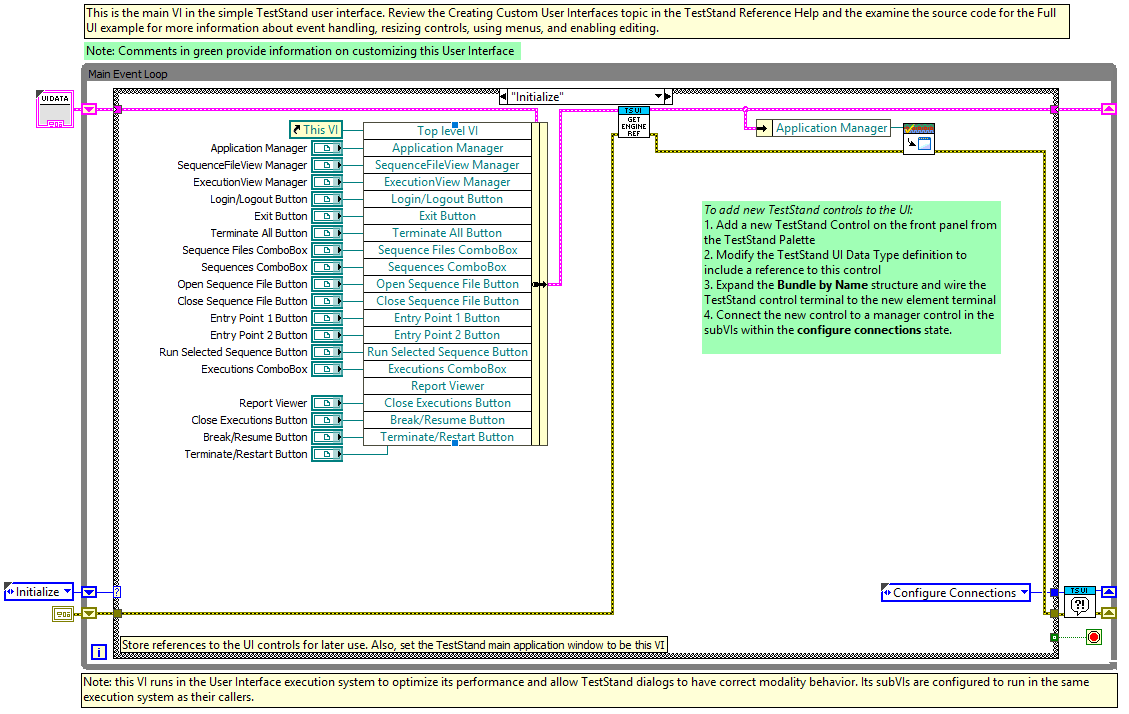Remove Execution View from TestStand Simple UI - National