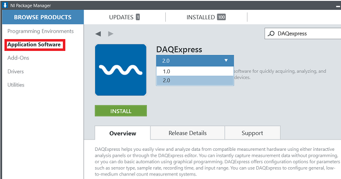 Downloading and Installing DAQExpress Software - National