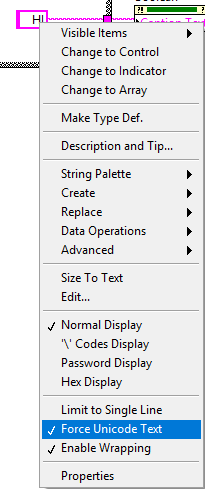 Unicode Characters are Broken in LabVIEW Front Panel - National