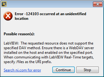 Error -124103 When Using the WebDAV Simple Put VI - National