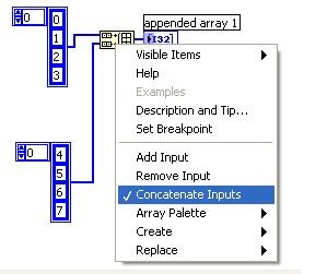Concatenate Multiple Arrays in LabVIEW - National Instruments