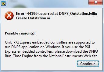 Error Code -44247 or -44199 Using NI-Industrial