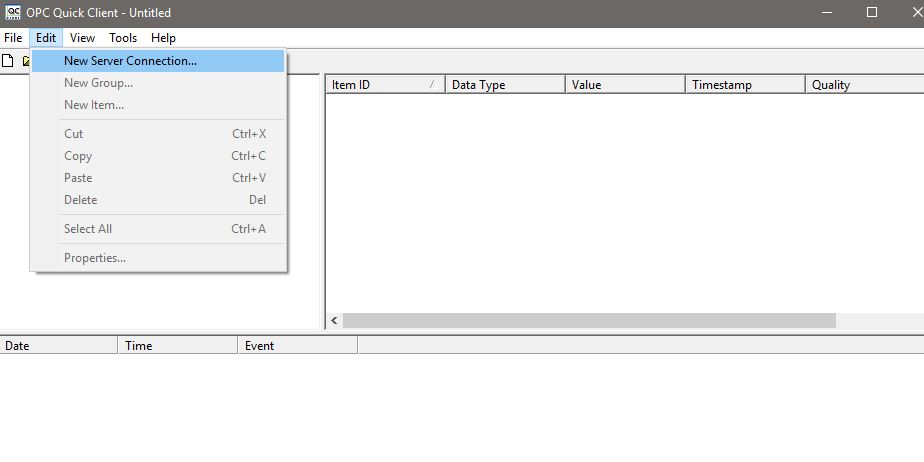 OPC Quick Client Red X Next to Tags - National Instruments