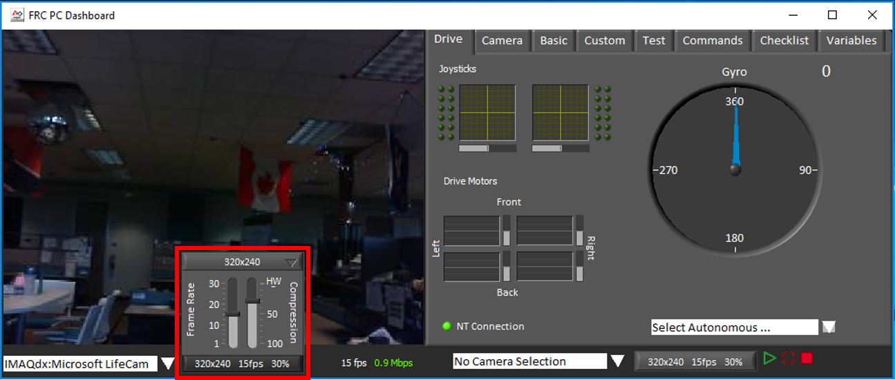 Robot Camera Images Not Appearing in FRC Dashboard