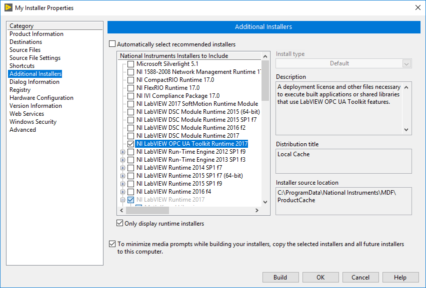 LabVIEW OPC UA Toolkit Runtime Installation - National
