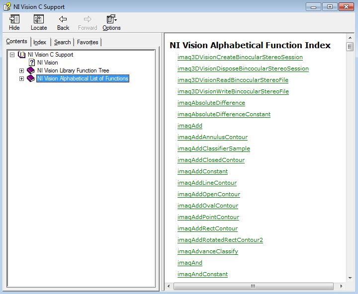 NI IMAQ Vision C API Documentation - National Instruments