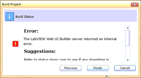 Is Web UI Builder Not Supported Anymore? - National Instruments